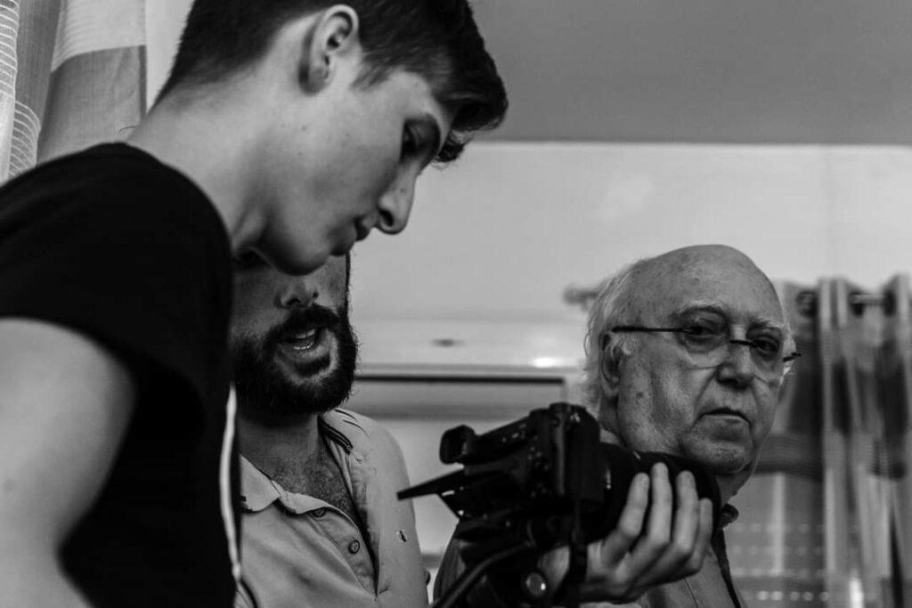 regista, videomaker e attore sul set de La Nebbia