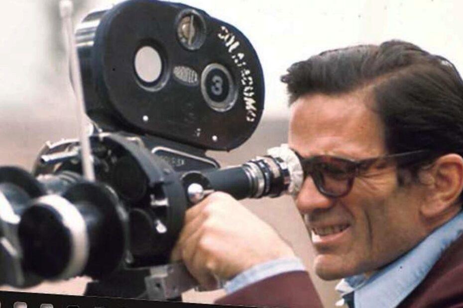 Pier Paolo Pasolini sul set di Salò o le 120 giornate di Sodoma (1975)